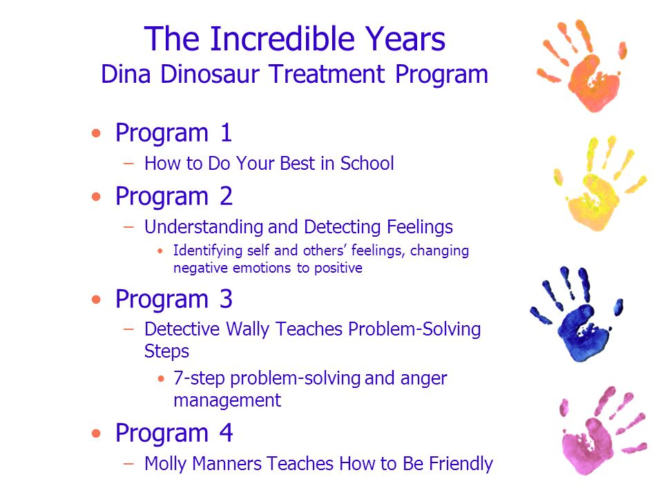 The Incredible Years Dina Dinosaur Treatment Program