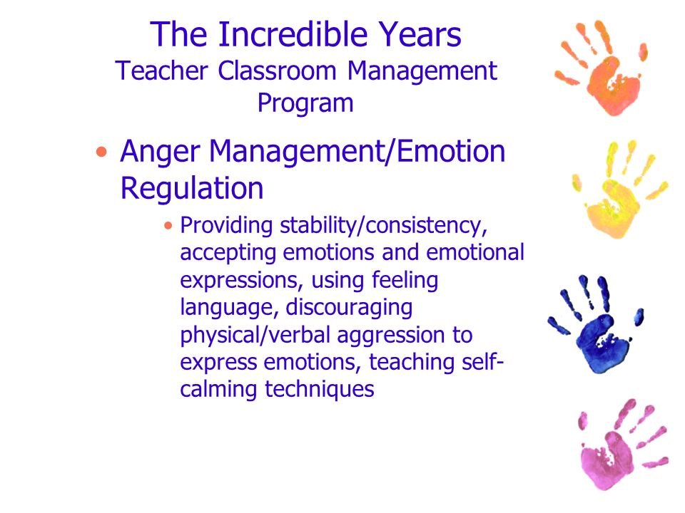 The Incredible Years Teacher Classroom Management Program