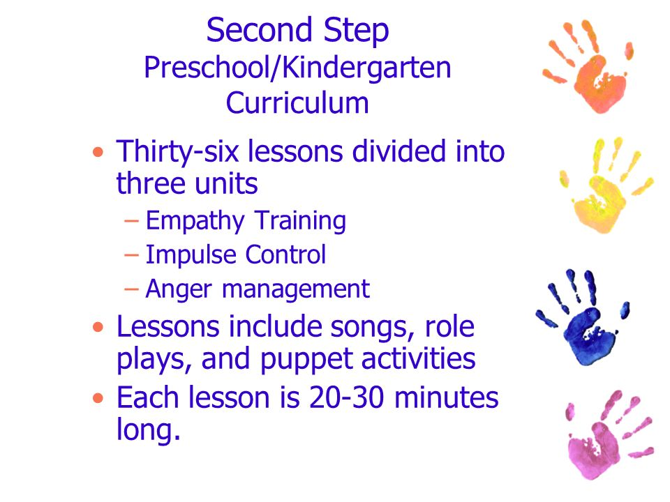 Second Step Preschool/Kindergarten Curriculum