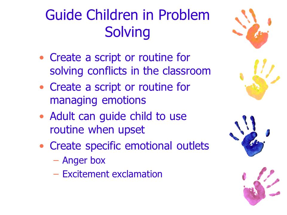 Guide Children in Problem Solving