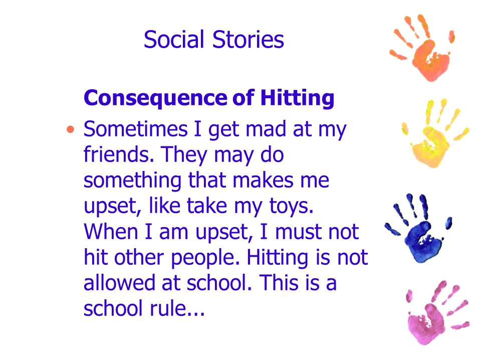 Social Stories Consequence of Hitting