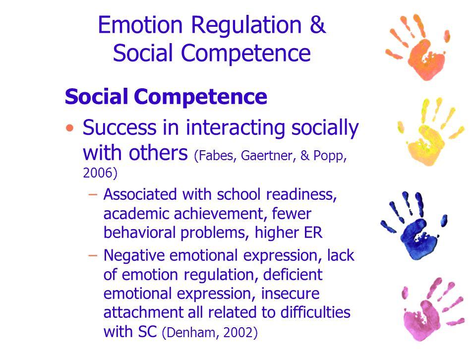 Emotion Regulation & Social Competence