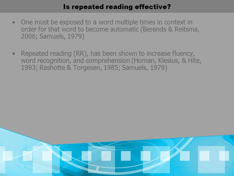 Is repeated reading effective