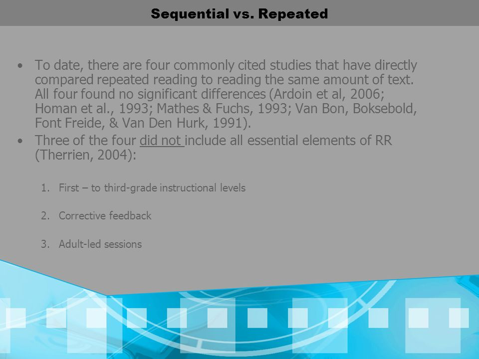 Sequential vs. Repeated