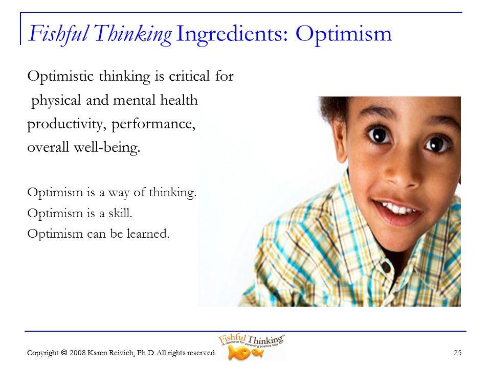 Fishful Thinking Ingredients: Optimism