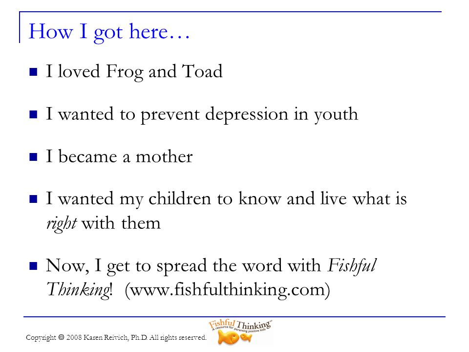 How I got here… I loved Frog and Toad