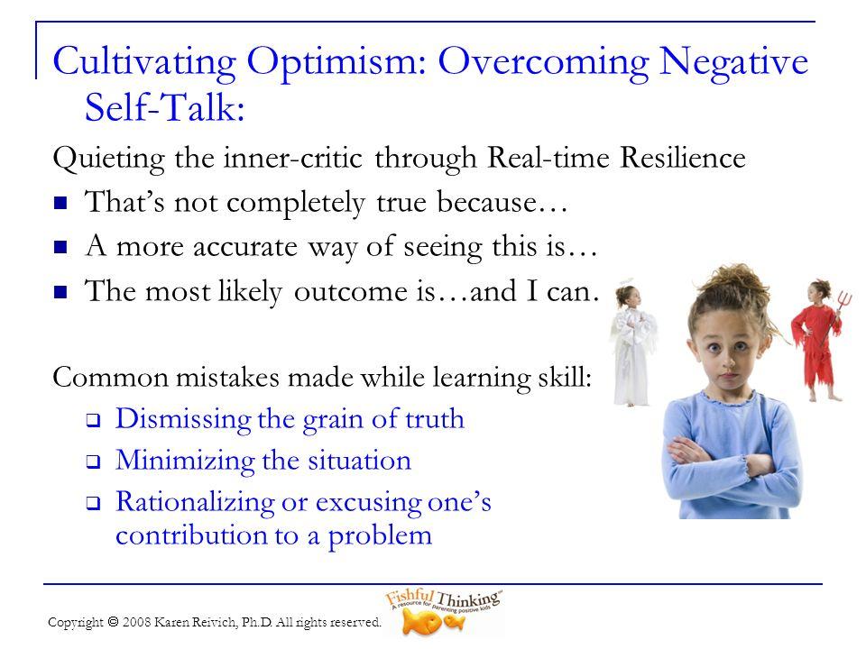 Cultivating Optimism: Overcoming Negative Self-Talk: