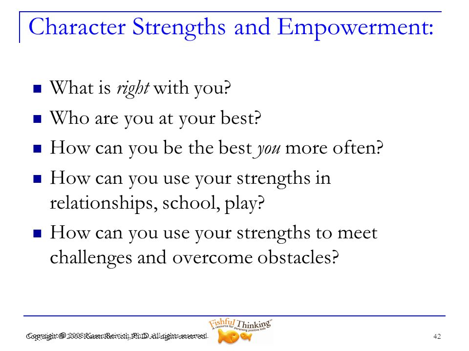 Character Strengths and Empowerment: