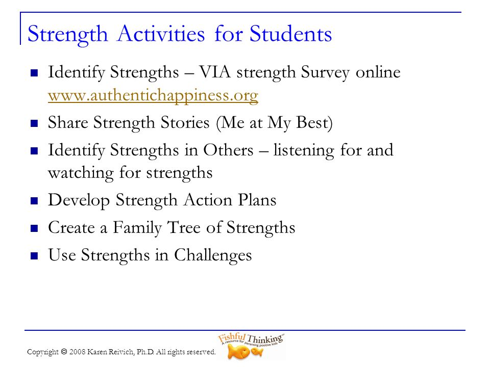 Strength Activities for Students