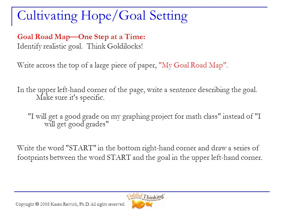 Cultivating Hope/Goal Setting