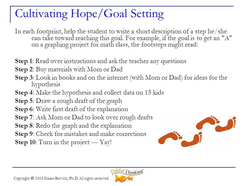 Cultivating Hope/Goal Setting