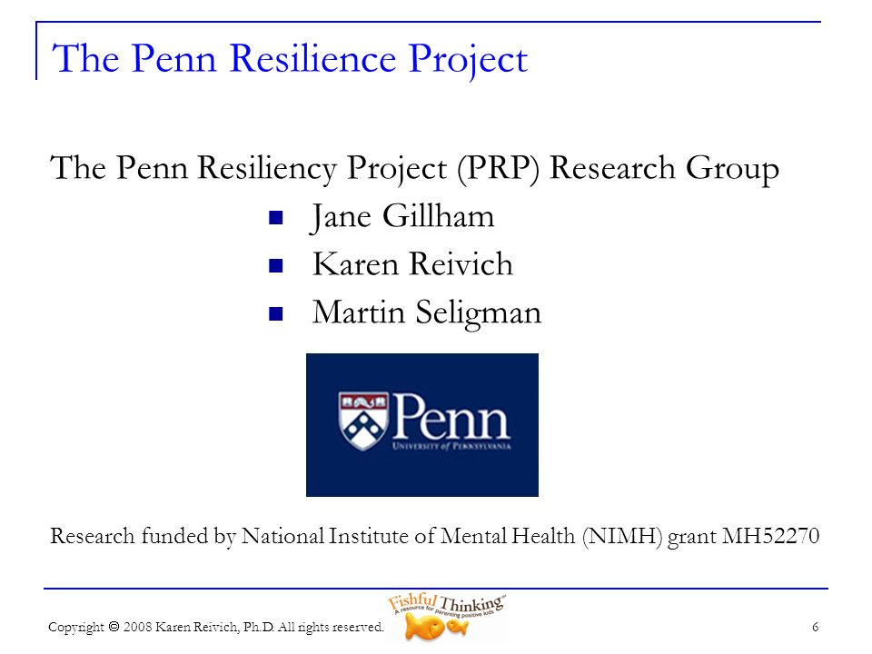 The Penn Resilience Project
