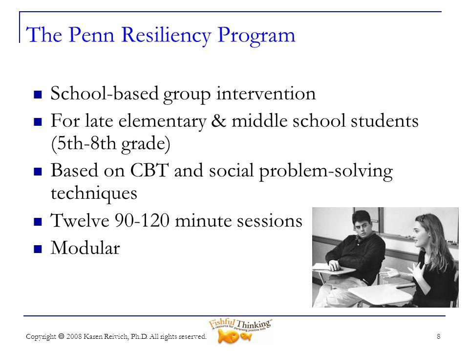 The Penn Resiliency Program