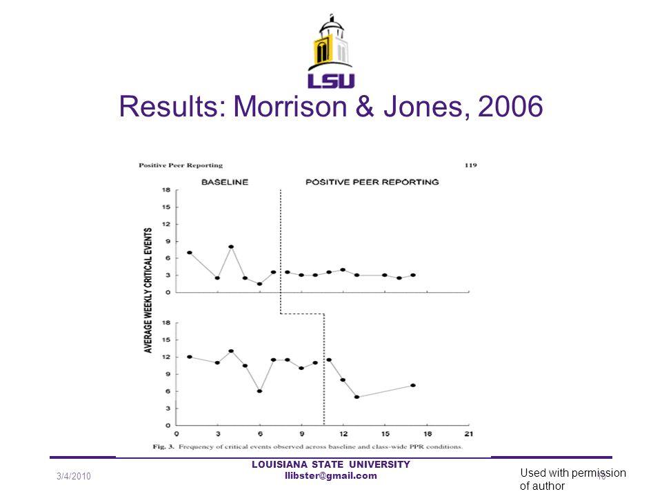 Results: Morrison & Jones, 2006