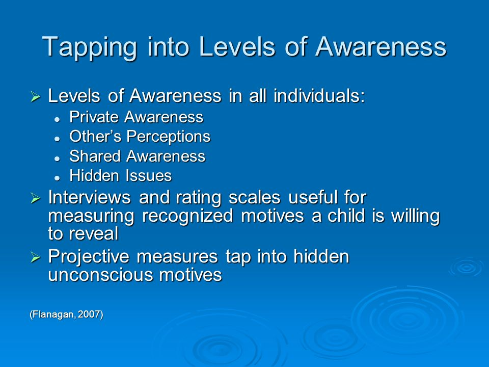Tapping into Levels of Awareness