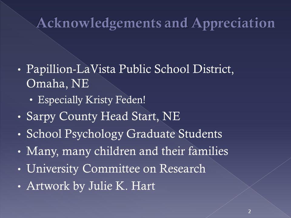 Acknowledgements and Appreciation