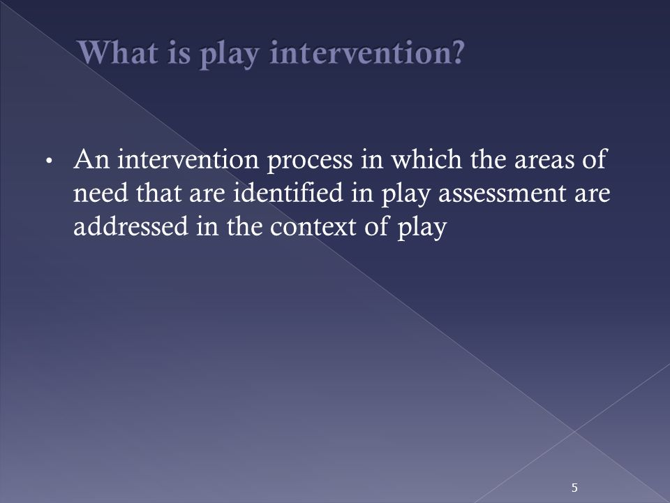 What is play intervention
