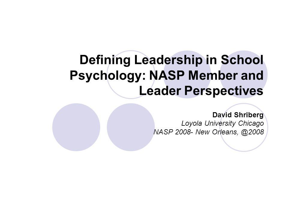 David Shriberg Loyola University Chicago NASP 2008- New Orleans, @2008