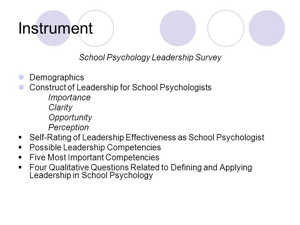 School Psychology Leadership Survey