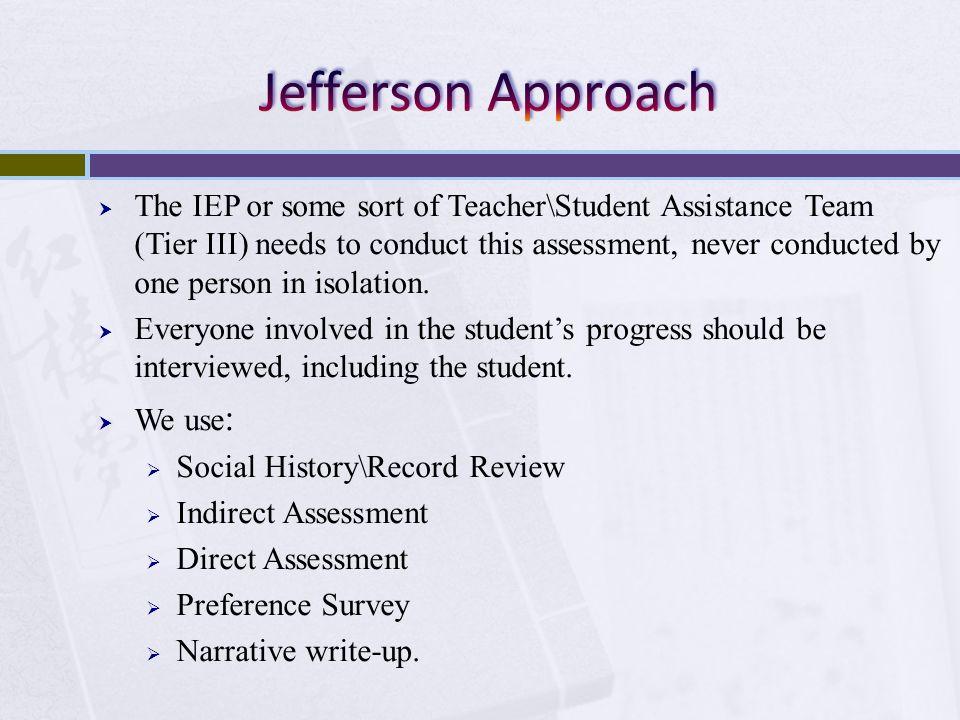 Jefferson Approach
