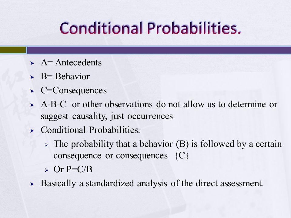 Conditional Probabilities.
