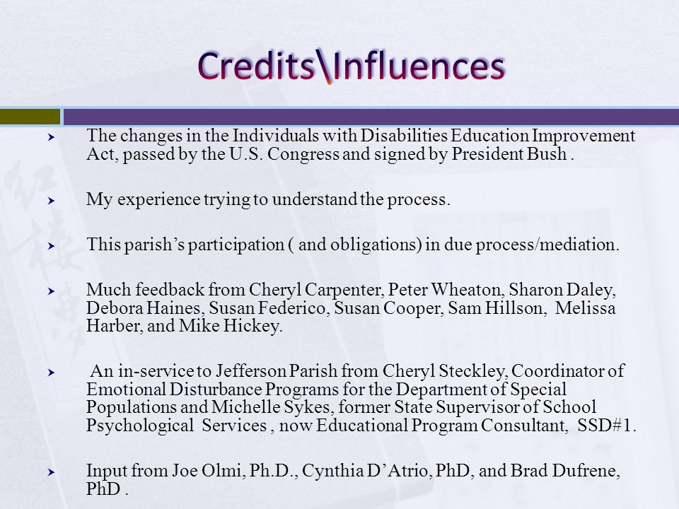 Credits\Influences