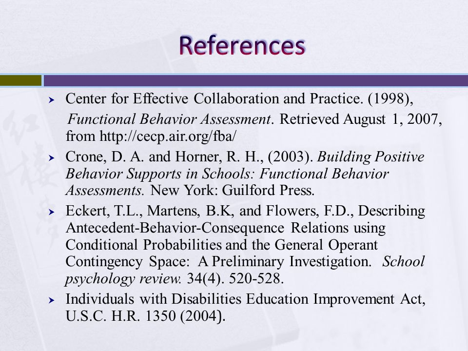 References Center for Effective Collaboration and Practice. (1998),