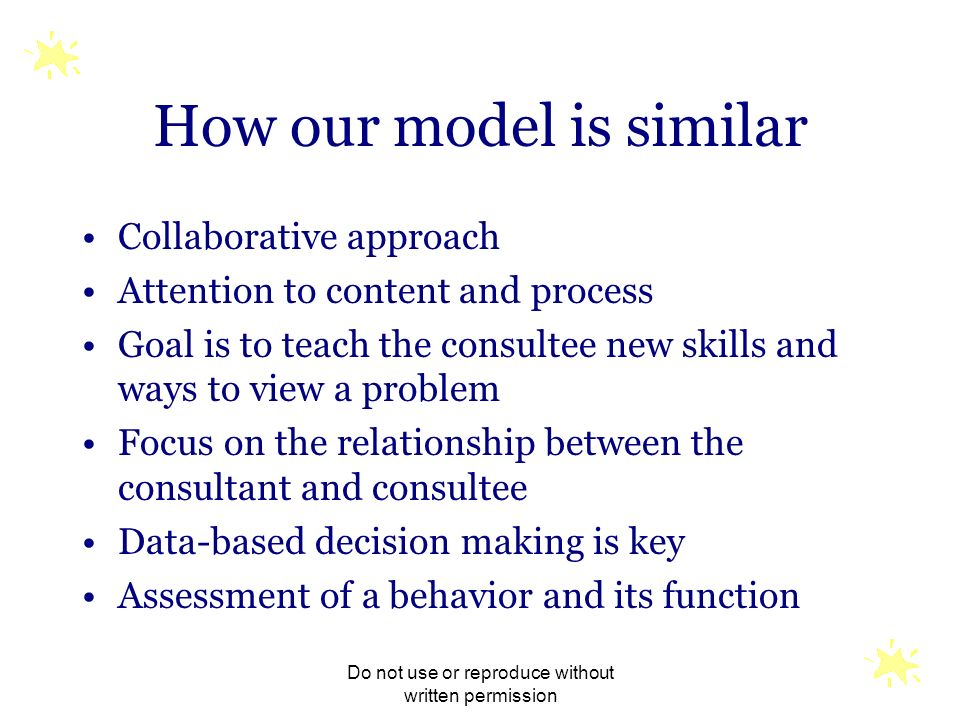 How our model is similar