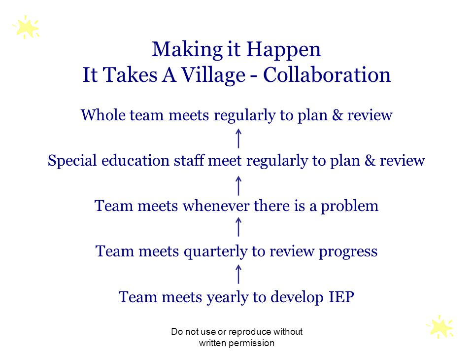 Making it Happen It Takes A Village - Collaboration