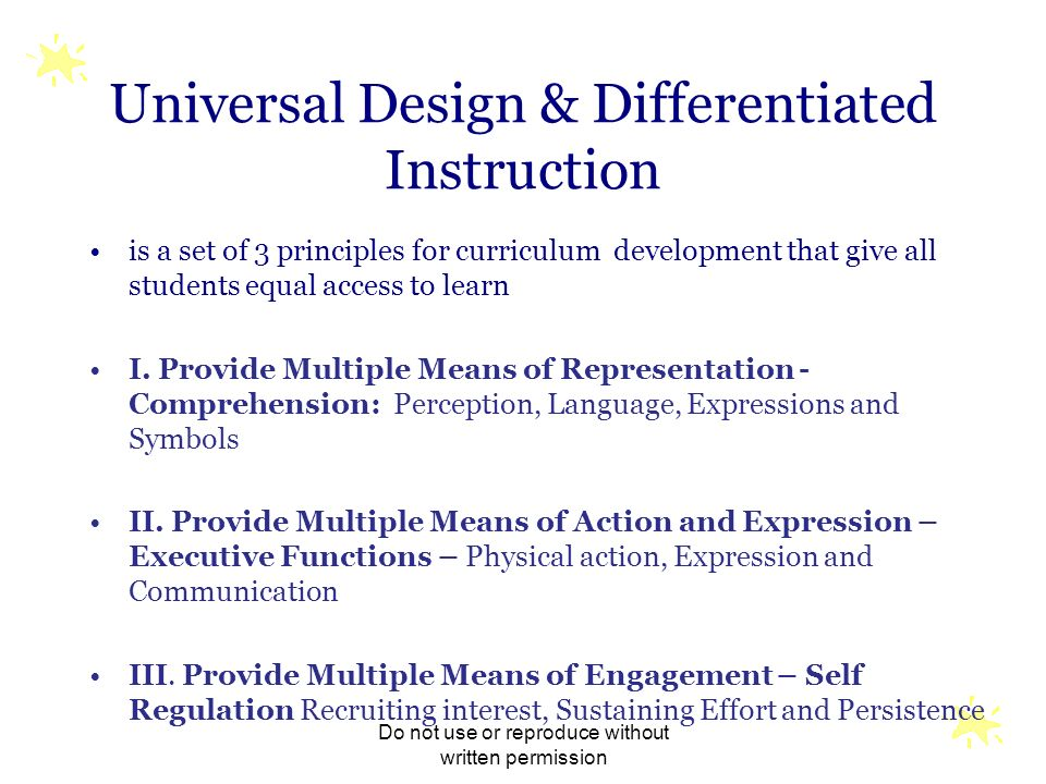 Universal Design & Differentiated Instruction