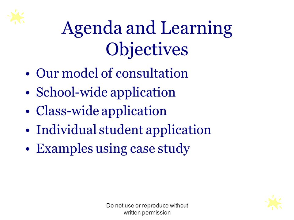 Agenda and Learning Objectives