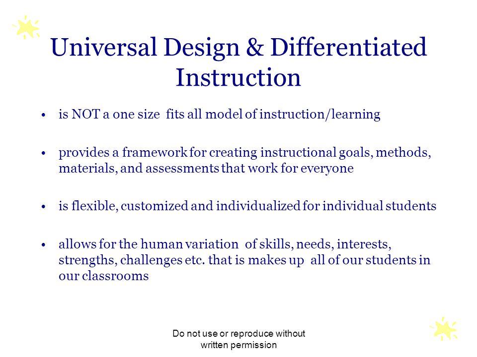 Universal Design & Differentiated Instruction