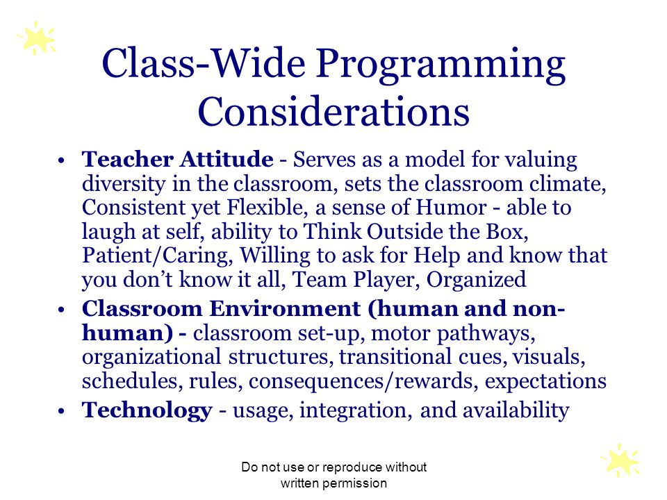 Class-Wide Programming Considerations