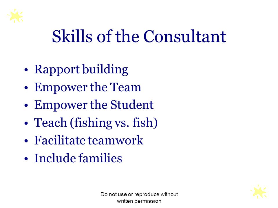 Skills of the Consultant