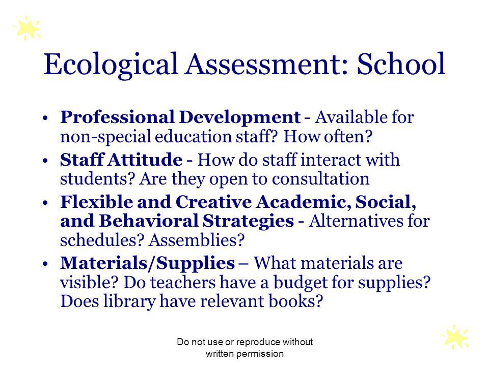 Ecological Assessment: School