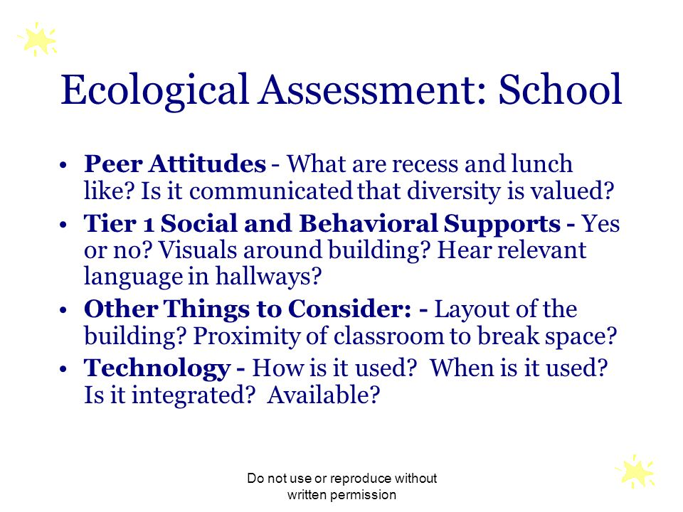 Ecological Assessment: School