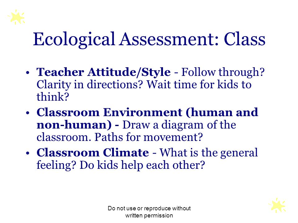 Ecological Assessment: Class