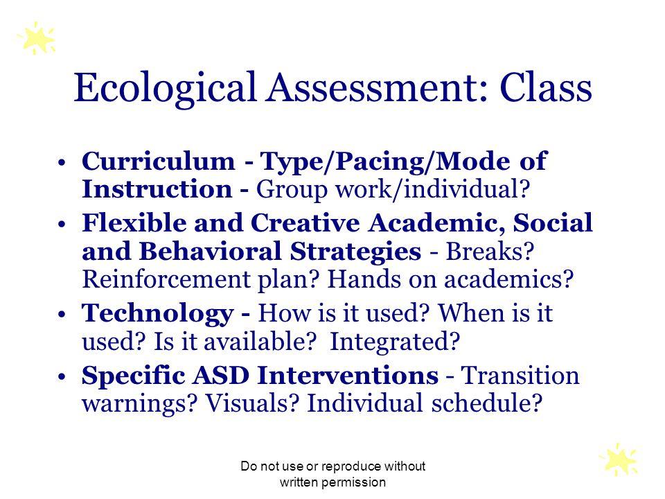 Ecological Assessment: Class