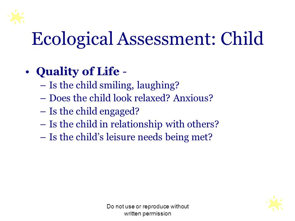 Ecological Assessment: Child