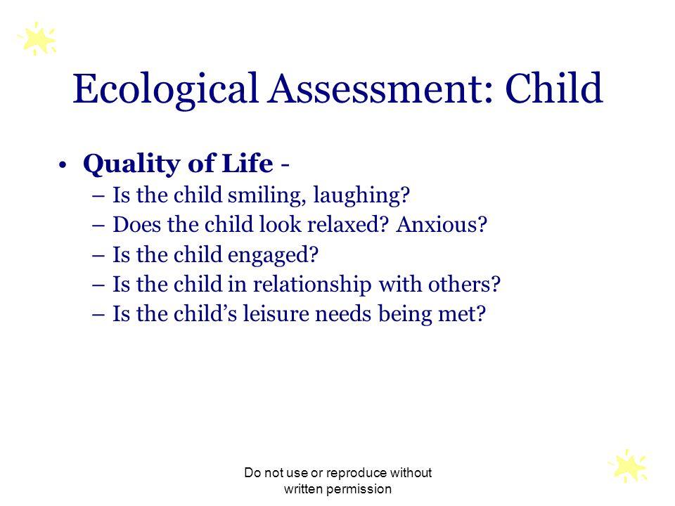 Ecological Assessment: Child