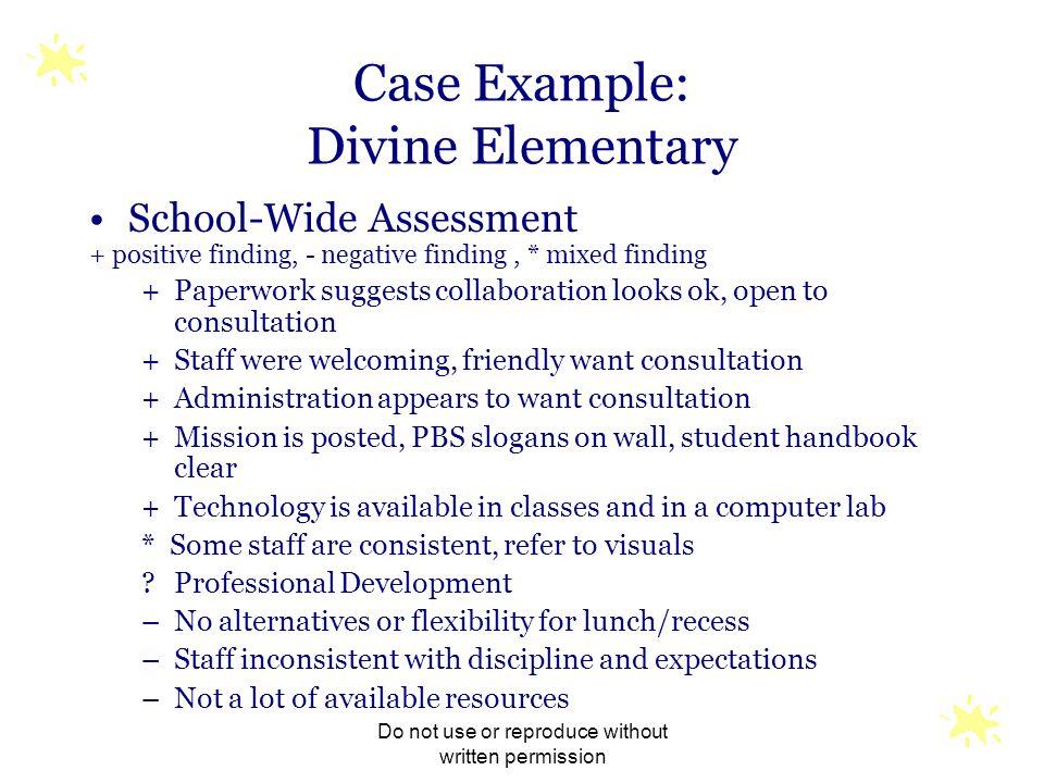 Case Example: Divine Elementary