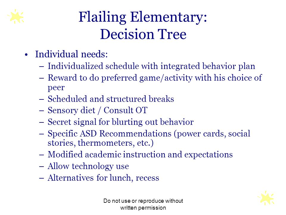 Flailing Elementary: Decision Tree