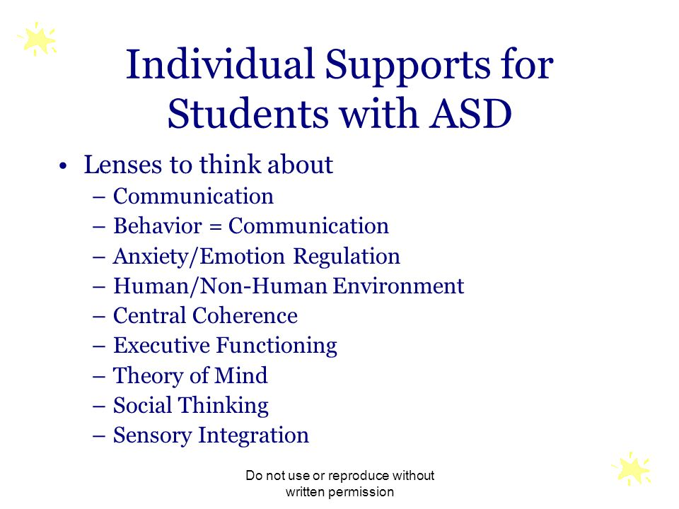 Individual Supports for Students with ASD