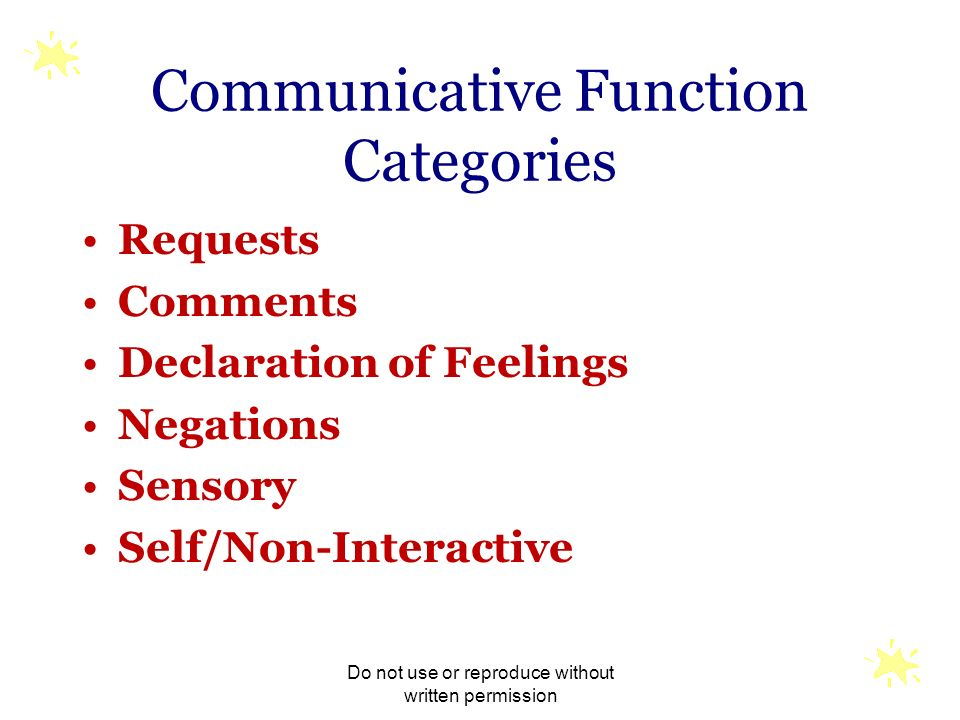 Communicative Function Categories