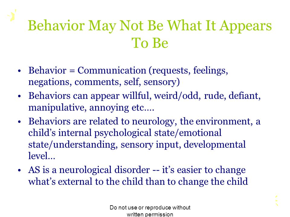 Behavior May Not Be What It Appears To Be