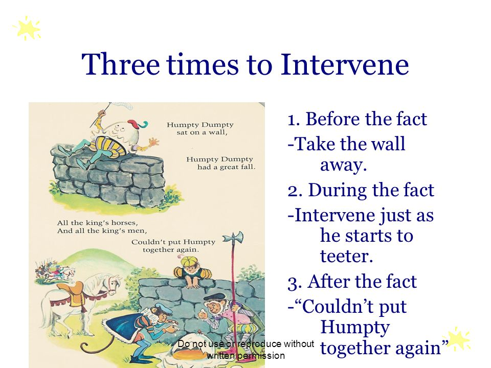 Three times to Intervene