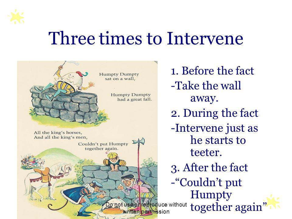 Three times to Intervene