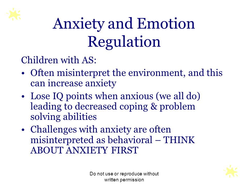 Anxiety and Emotion Regulation