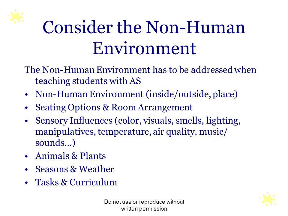 Consider the Non-Human Environment