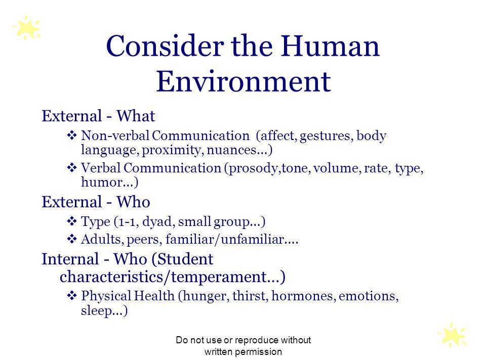 Consider the Human Environment